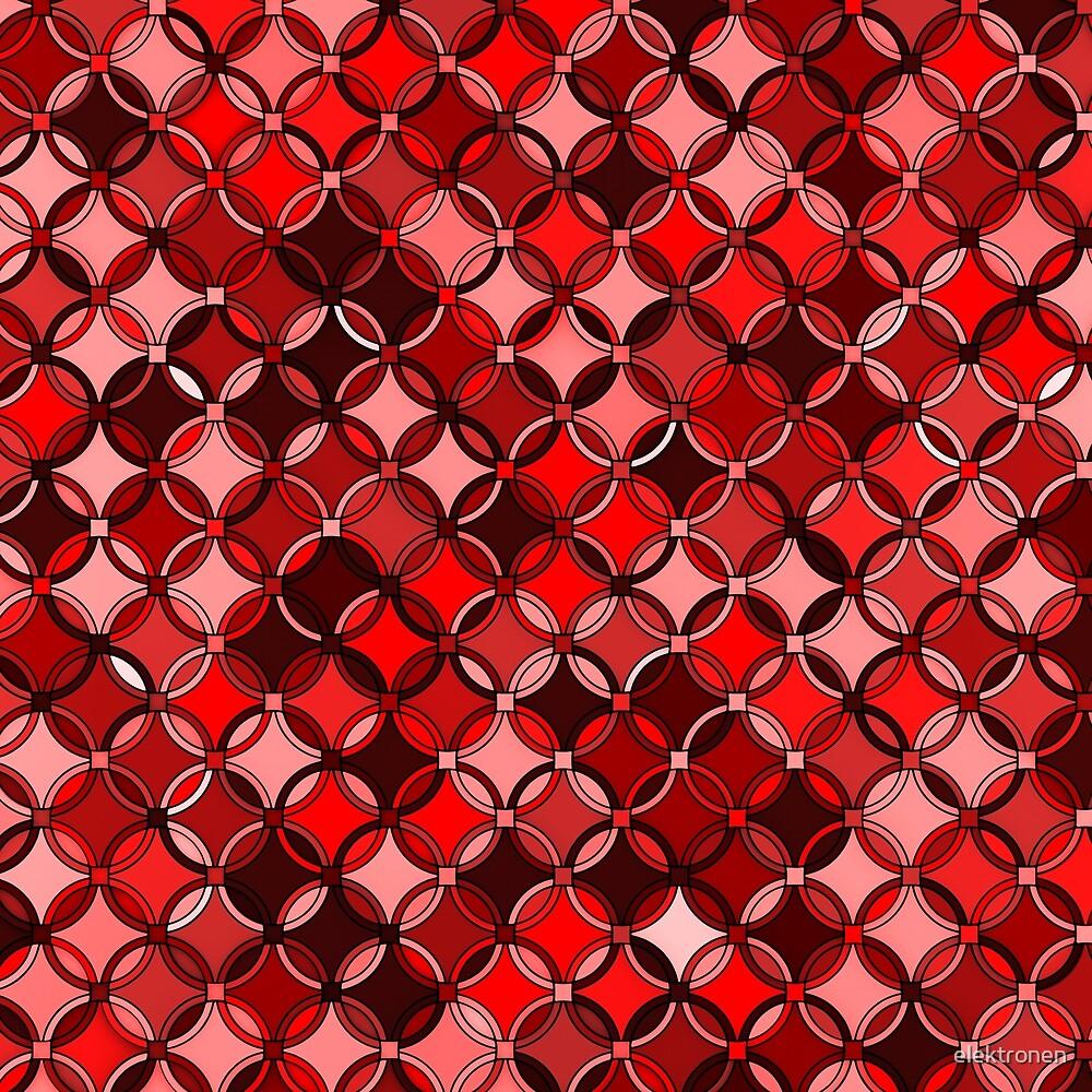 geometric Pattern Red 3 by elektronen