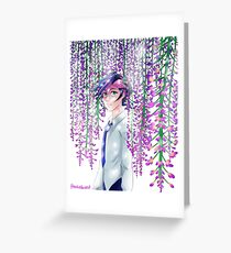 Yusaku Wisteria Greeting Card