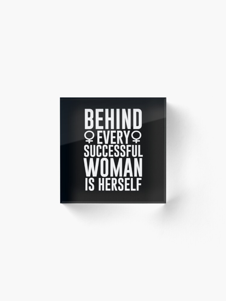 Alternate view of Successful Woman Acrylic Block
