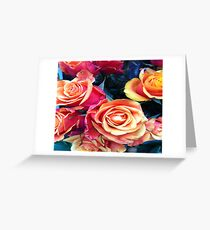 Roses at Flower Market Liberty of London Greeting Card