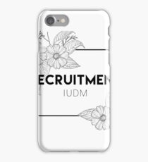 IUDM Recruitment iPhone Case/Skin