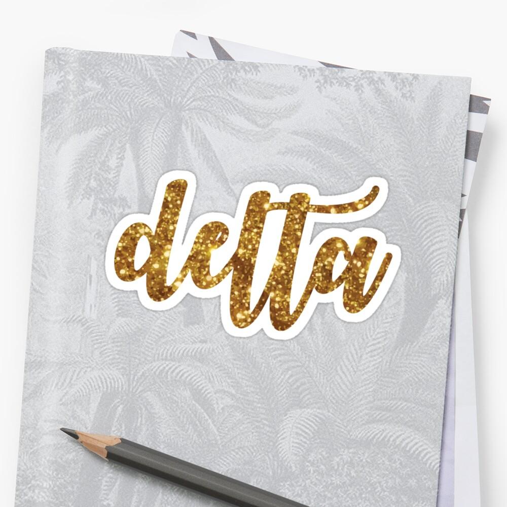 glitter script - delta by arielledesigns