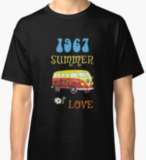 1967 Summer of Love Peace Van Hippie Graphic Classic T-Shirt