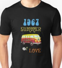 1967 Summer of Love Peace Van Hippie Graphic Unisex T-Shirt