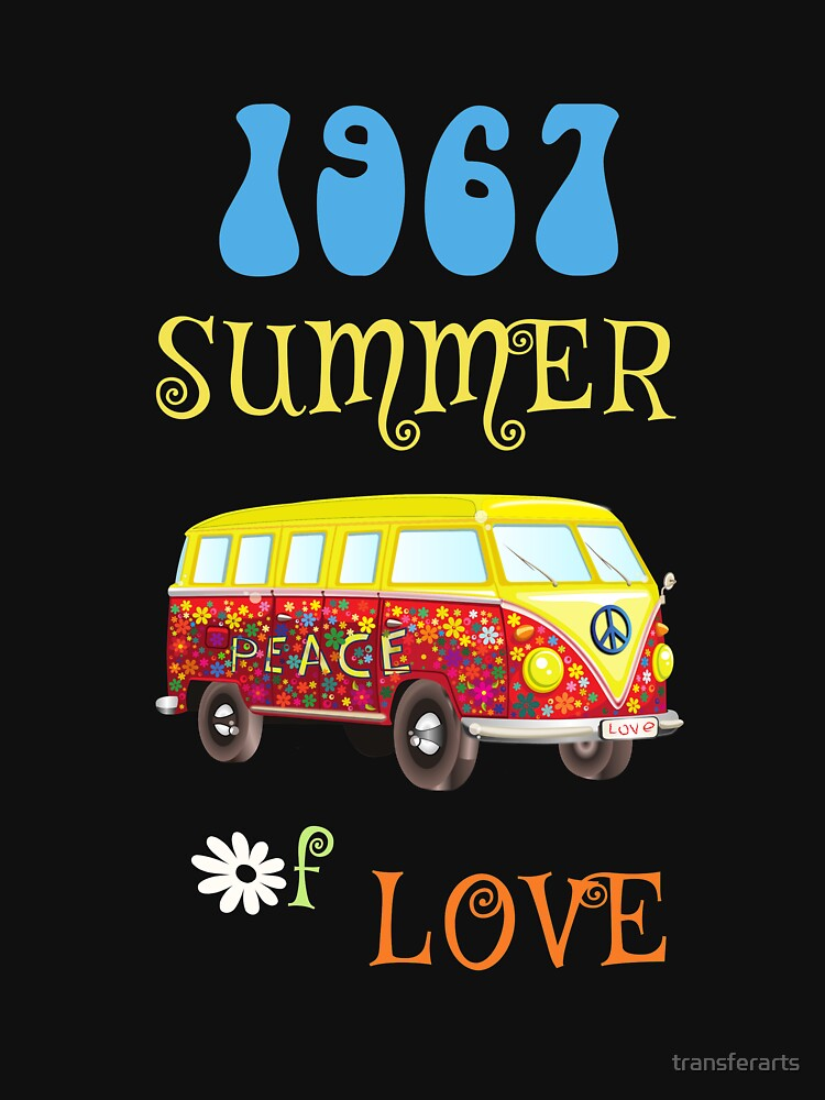 1967 Summer of Love Peace Van Hippie Graphic by transferarts