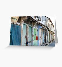 Shop Houses Greeting Card