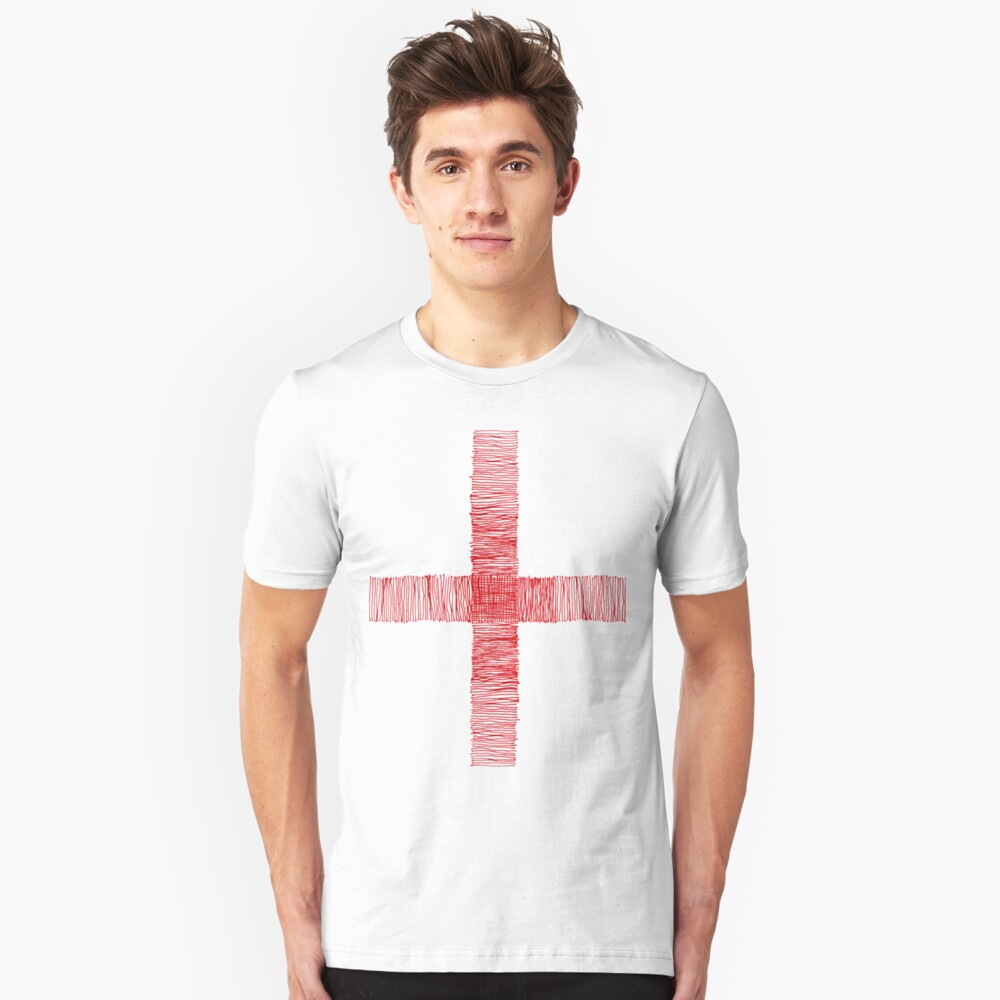 red cross Unisex T-Shirt Front