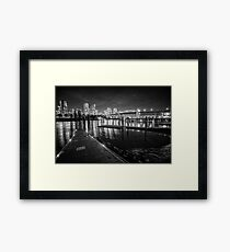 Granville Island at Night, Vancouver, British Columbia Framed Print