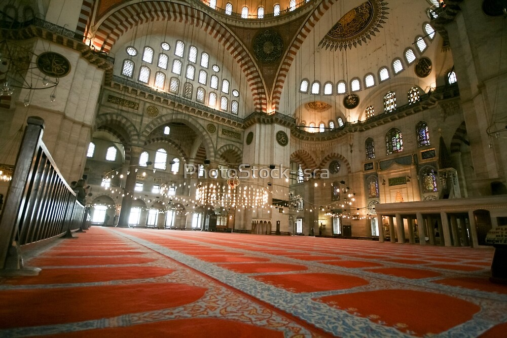 Interior of a mosque, Istanbul, Turkey  by PhotoStock-Isra