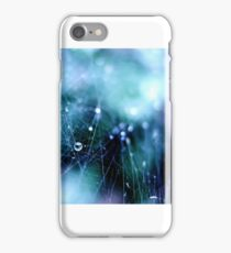 Spider web with raindrops iPhone Case/Skin