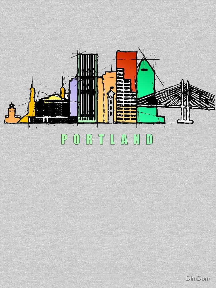 Portland city, Oregon by DimDom