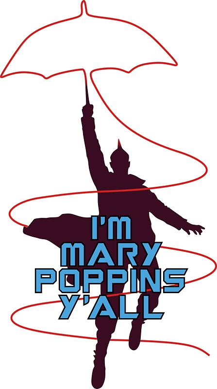 Quot I M Mary Poppins Y All Quot Stickers By Telltalegta Redbubble