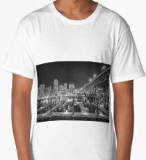 Granville St. Bridge at Night, Vancouver, British Columbia Long T-Shirt