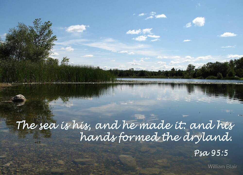 Psalm 95:5 by William Blair