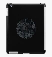 QI (Quite Interesting) Word Cloud iPad Case/Skin