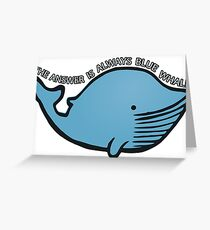 Blue Whale | QI Greeting Card