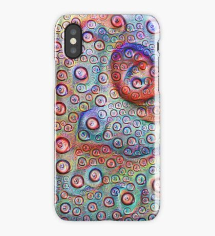 #DeepDream Water droplets on glass iPhone Case