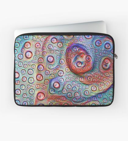#DeepDream Water droplets on glass Laptop Sleeve