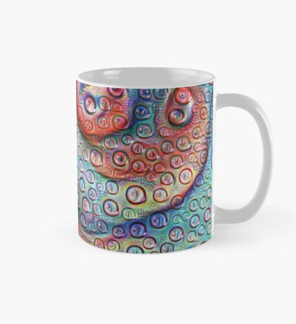 #DeepDream Water droplets on glass Mug