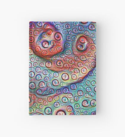 #DeepDream Water droplets on glass Hardcover Journal