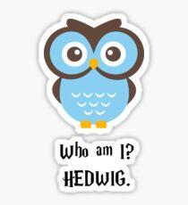 Who Am I? Hedwig Sticker