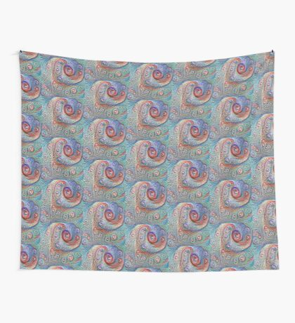 #DeepDream Water droplets on glass Wall Tapestry