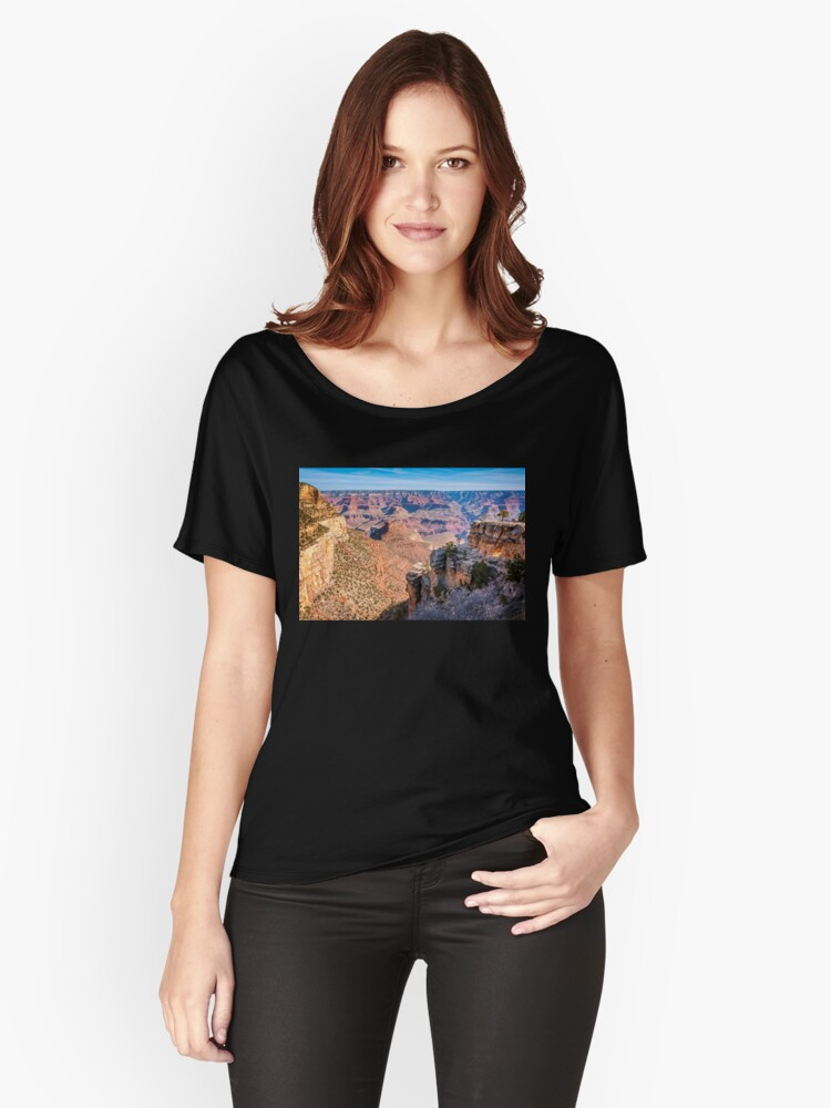 Morning at Bright Angel Trail - Grand Canyon Women's Relaxed Fit T-Shirt Front