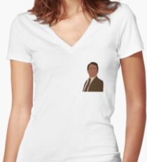Charlie best friend Looking Across Women's Fitted V-Neck T-Shirt