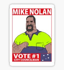 Vote Mike Nolan - The Big Lez Show Sticker