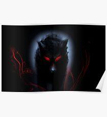 wolf black Poster