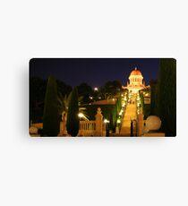 Shrine of the Bab, Ben Gurion Ave Outlook-Mt Carmel, Haifa, Israel Canvas Print