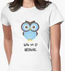 Who Am I? Hedwig Womens Fitted T-Shirt