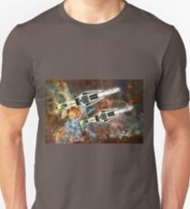 Two Galactic Cruiser/Fighters at NGC 3372  Unisex T-Shirt