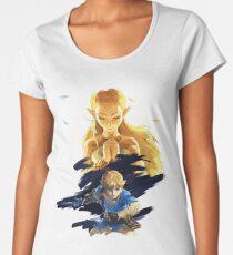 Zelda breath of the wild Link and Zelda Women's Premium T-Shirt