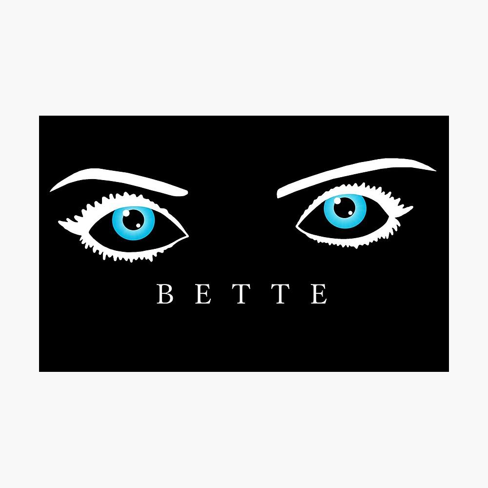 Bette Davis Augen (weiß) Fotodruck