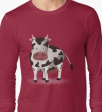 Cartoon black and white cow Long Sleeve T-Shirt