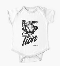 The righteous are bold as a lion Kids Clothes