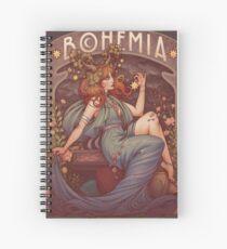 Art Nouveau BOHEMIA Spiral Notebook