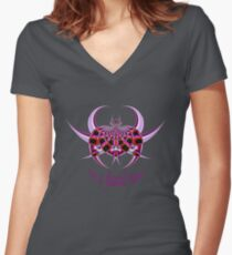 Fractal Insect Fitted V-Neck T-Shirt