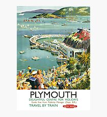 Plymouth Delightful Centre For Holidays Photographic Print