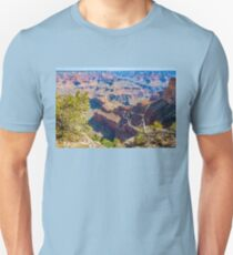 View of Grand Canyon from the ridge at Mohave Point Unisex T-Shirt