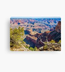 View of Grand Canyon from the ridge at Mohave Point Canvas Print
