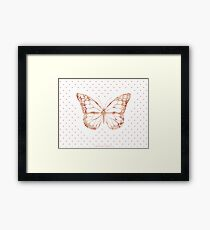 Pink Watercolor Butterfly Framed Print