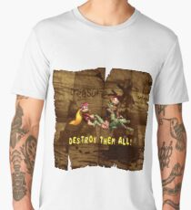 Destroy Them All with background Men's Premium T-Shirt