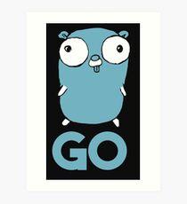 Golang Gopher GO ,Lang Programming Programmer IT CS Art Print