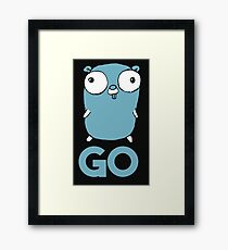 Golang Gopher GO ,Lang Programming Programmer IT CS Framed Print