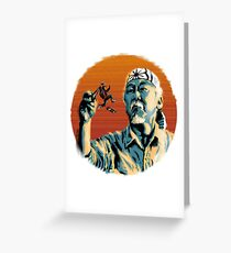 Mr. Miyagi & Marty McFly Greeting Card