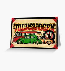 Classic VWs Greeting Card