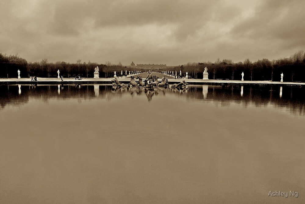 Versailles on a cloudy day by Ashley Ng