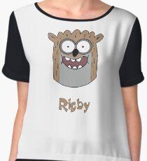 Regular show t_shirt cartoon, Rigby Women's Chiffon Top